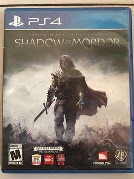Vendo Shadow Of Mordor Ps4
