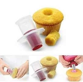 Molde que hace agujeros rápidos y uniformes para el relleno a los Cupcake