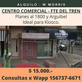 LOCAL EN ALQUILER - CENTRO COMERCIAL W MORRIS, FRENTE AL TREN