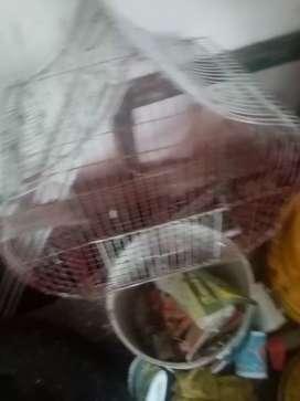 Vendo jaulas para cacatuas canarios díamantes australianos