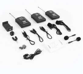 Microfono Inalambrico Profesional + Monitoreo en Vivo Modelo PREMIUM