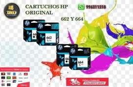 Cartuchos HP 664 y 662