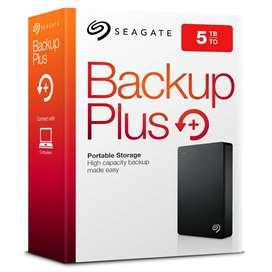 Disco Duro Externo 5TB Seagate Backup Plus