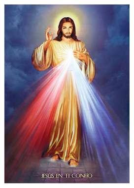 Divina Misericordia Jesús Lienzografia Impresión Lienzo Arte 60x90