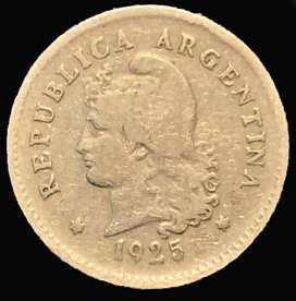 Moneda Argentina Antigua 10 Cents. 1925 Cuproníquel Km 35