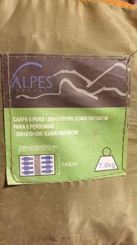 Carpa Alpes - 8 Personas (2 Dormitorios + Comedor)