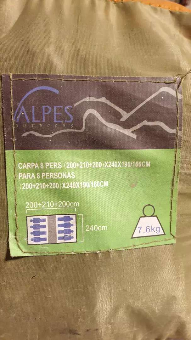Carpa Alpes - 8 Personas (2 Dormitorios + Comedor) 0