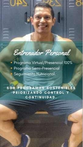 Entrenador Personal/ Presencial / Virtual.
