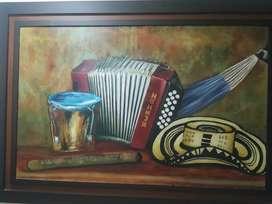Se vende hermoso cuadro Instrumentos Musicales