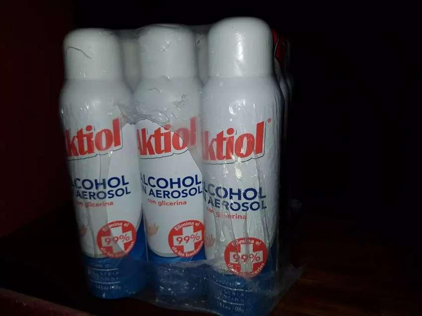 Alcohol en aerosol Aktiol Sanitizante 0