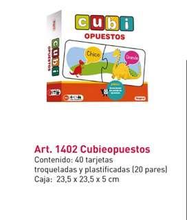 Juego didáctico - Cubi Opuestos