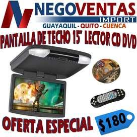 PANTALLA DE TECHO DE 15 PULGADAS CON LECTOR DE CD DVD EN OFERTA