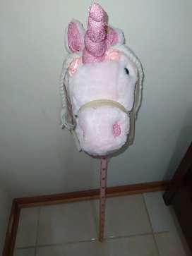 Vendo Unicornio rosa de palo importado
