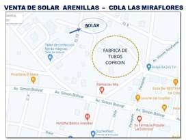 SE VENDE SOLAR 7.5 X 23  ARENILLAS EN LA CIUDADELA LAS MIRAFLORES