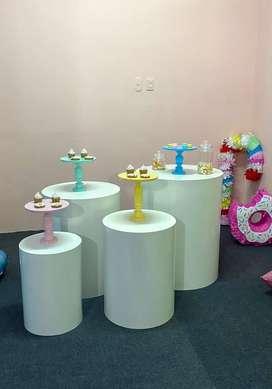 Set Cilindros decoración fiesta