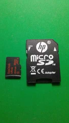 Memoria SD de 200 gb