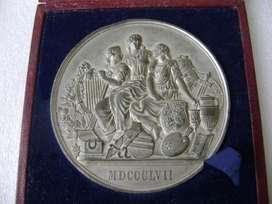 Medalla inglesa Expo Tesoros Reino Unido 1857 / Maxim Nord