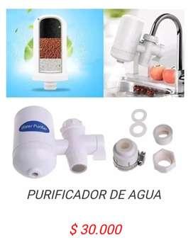 Filtro Purificador de agua mineralizador para llave o grifo bioenergetico de ceramica