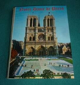 ANTIGUO SOUVENIR PARIS NOTRE DAME IGLESIA 20 VISTAS TIPO POSTAL 1970