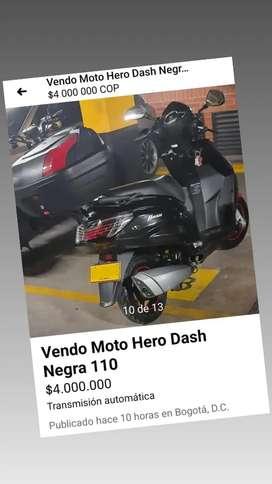 Vendo Moto Hero Dash 110, Negra