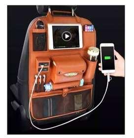 ORGANIZADOR PARA AUTO - 4 PUERTOS USB