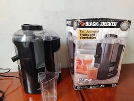 Extractor de jugos y verduras black and Decker 400 W