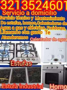 Técnico mantenimiento de estufas hornos calentadores de agua gas