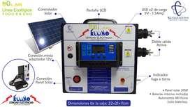 Cerca electrica Autónoma Solar 60km USBx2, Mixta, doble salida, LCD