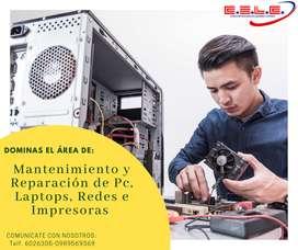 Docente para el área de Mantenimiento y Reparación de Pc, Laptops, Redes e Impresoras