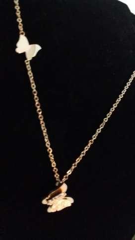 Collar Mariposa Oro 18k