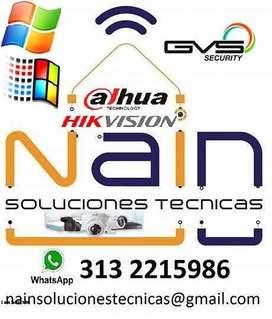Mantenimiento de equipos de computo, Instalación y mantenimiento de sistemas vídeo cámaras de seguridad.