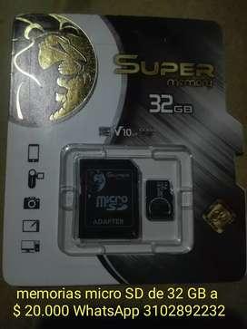Memorias micro SD 32gb