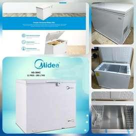 Congelador Blanco grande 456 Funcion dual.  Midea