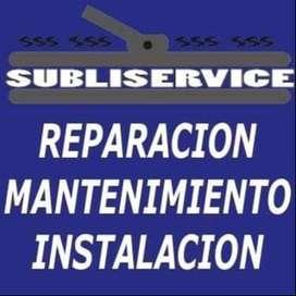 Reparación de sublimadoras y termoestampadoras