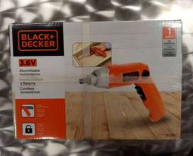 ATORNILLADORA ELECTRICA INALÁMBRICA , BLACK AND DECKER
