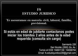 Asesoramiento jurídico - Jubilaciones, familia, civil, laboral