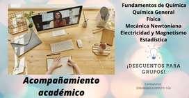 Acompañamiento académico (Química, Matemática, Inglés, etc)