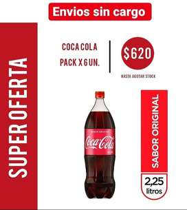 Pack coca cola 2.25 l