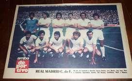 ANTIGUA LAMINA POSTER REAL MADRID 1977-78 QUIQUE WOLFF . ARRIBA DEPORTIVO ESPAÑA