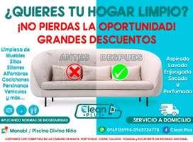Lavado de muebles servicio a Domicilio garantizado. 100pre