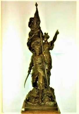 Escultura La Defense Nationale Bronce Gustave Doré 1832 1883