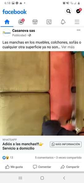 Limpieza ind de colchones y muebles a domicilio