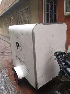 Furgon trailer para moto