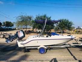 Hermoso Seadoo Challenger con Motor fuera de Borda Yamaha 150 con Torre Ski/wakeboard + trailer original
