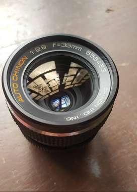 Lente 35mm F 2.8 Para Canon, marca chinon Manual, m42.