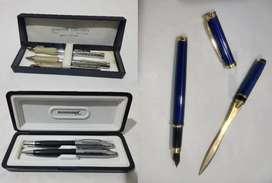 3 kits de escritura de colección Pierre Cardin Collection Schroder Germany Collection Pluma y abre sobres azul