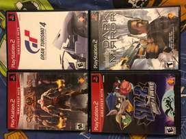 4videojuegos para PS2
