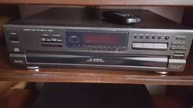 cd player technics con cambiador para 5 cd como nuevo