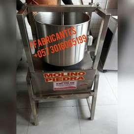 marmita tostadora descascarilladora refinador clasificadora desplumadora despulpadora silo pasteurizador horno