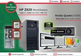 HP Z820 , 2X 2.8 GHZ XEON,32GB